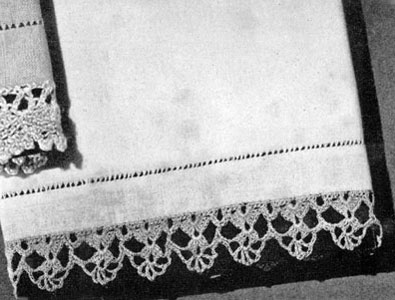 Free Vintage Crochet Edging Pattern : Towel Edging Pattern #4044 Crochet Patterns