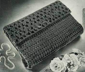 Crochet Clutch Purse Pattern Free : ... oz. balls) of Green ... Bone Crochet Hook No. 5 ... ? yard of felt