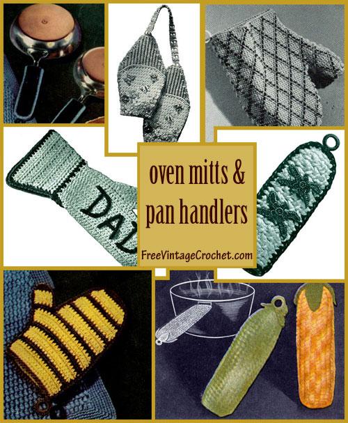 Oven Mitts Pan Handles Patterns Crochet Patterns