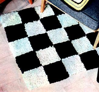 Checkerboard Rug Pattern Crochet Patterns