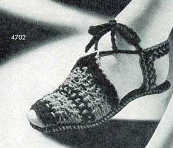 Woven Sandals Pattern Crochet Patterns