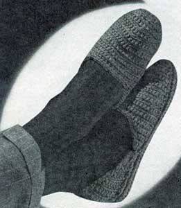Mens Slippers Patterns No 4710 Crochet Patterns