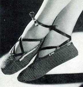 Ballet Slippers Pattern No 4711 Crochet Patterns