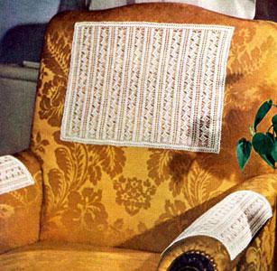 Chair Set Pattern Crochet Patterns Vintage Pdf Chairback Arm Covers