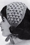 popcorn stitch headband pattern