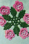 wild rose scroll motif crochet pattern