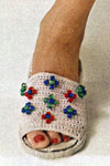 beaded slipper crochet pattern