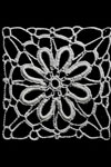 carnation tablecloth motif