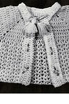 infants crocheted sacque and bootees pattern