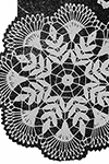 Crocheted Fern Doily #7151 pattern
