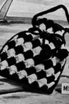 checkerboard shoulder bag pattern