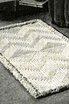 spotlight on texture crocheted rug