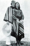 lady man poncho skirt