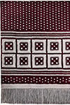 Table Runner with Crossed Squares pattern