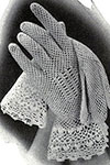 Crochet Gloves with Irish Cuffs pattern