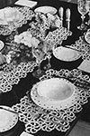 Snow Crystal Luncheon Set pattern