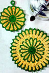 traditional potholder and hot plate mat