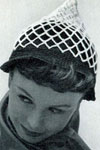 Black and White Mesh Hat pattern