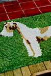wire haired terrier rug pattern