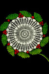 holly wreath doily