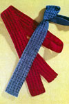 crocheted necktie pattern