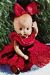 Christmas Doll with Red Dress pattern
