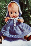 Christmas Doll with Blue Dress pattern