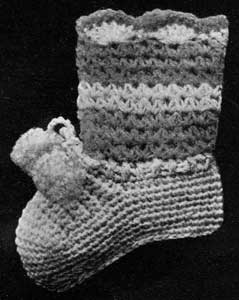 Vintage Crochet Baby Bootees Pattern