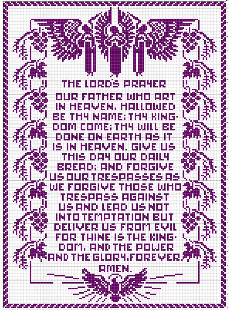 The Lord's Prayer Pattern #7264 chart