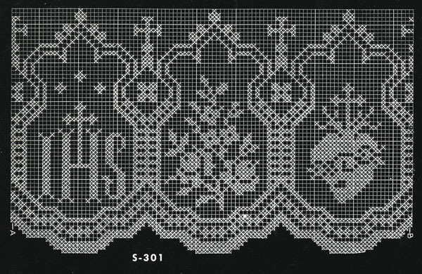 Altar Lace No. S301 Pattern chart