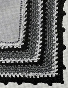 Peasant Weave Edging Pattern chart