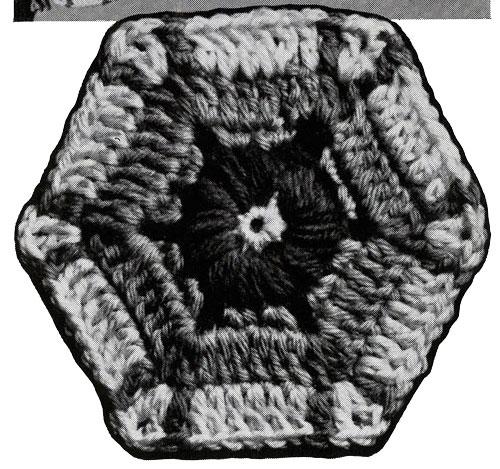 Lazy Daisy Afghan Pattern motif