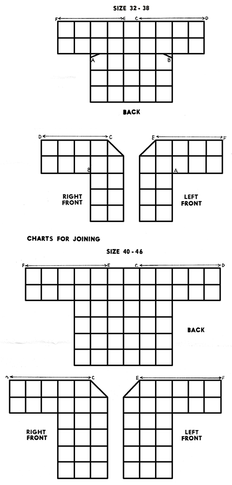 Crocheted Jacket Pattern #551 charts