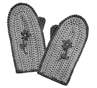 Childrens Crochet Mittens Pattern #621