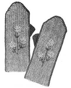 Ladies Mittens Pattern #623