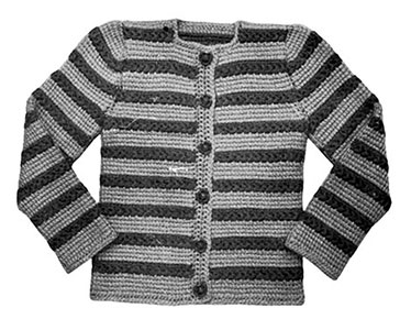 Crocheted Cardigan Pattern #707