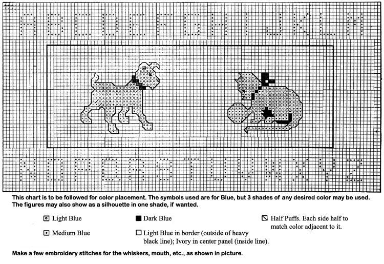 Alphabet Nursery Rug Pattern chart