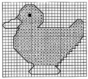 Duck Toy Pattern chart