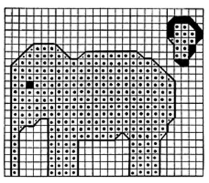 Jumbo Elephant Toy Pattern chart