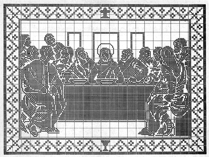 The Last Supper Wall Hanging chart