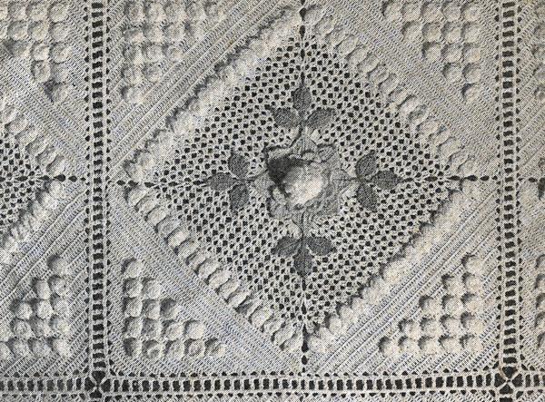 Peony Garden Bedspread Pattern motif