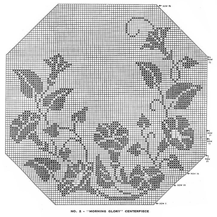 Morning Glory Centerpiece Pattern #2 chart