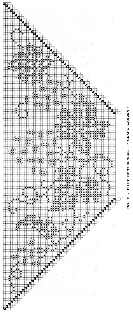 Grape Garland Filet Centerpiece Pattern #5 chart