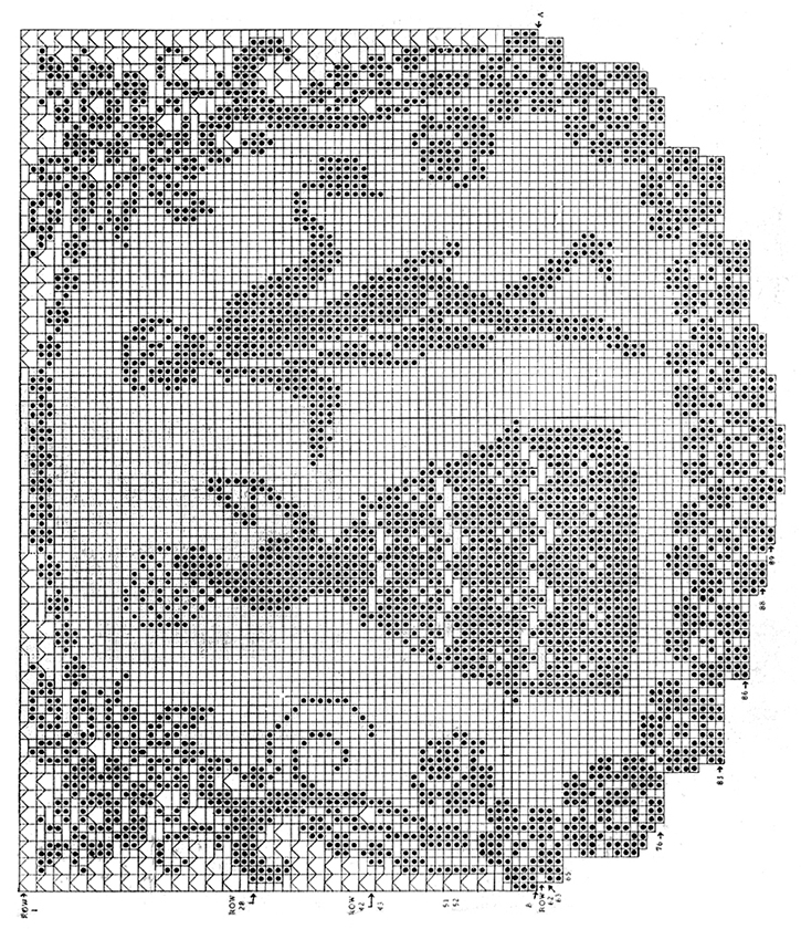 Crinoline Days Chair Set Pattern #8 chart