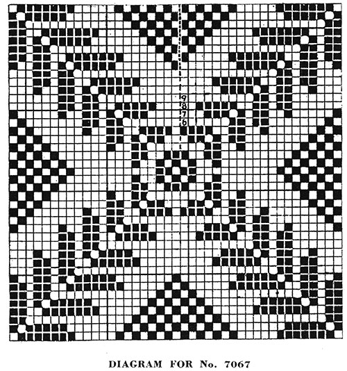 Square-a-Day Tablelcoth Pattern #7067 chart