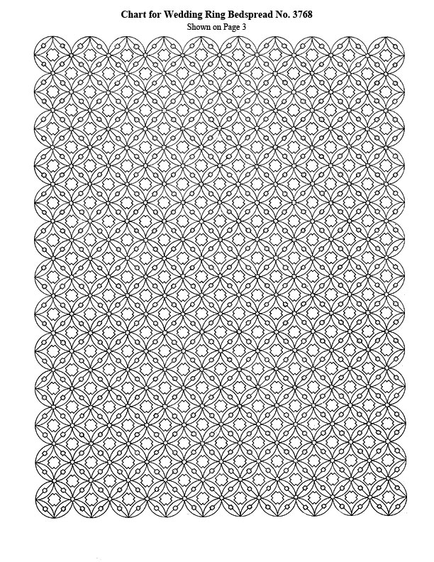 Wedding Ring Bedspread Pattern Crochet Patterns