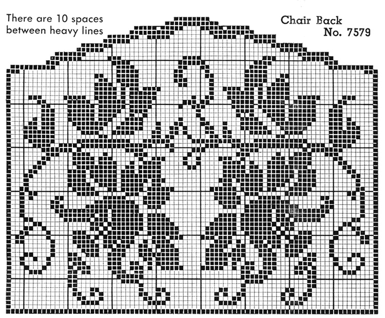 Flower Show Chair Set Pattern #7579 chart