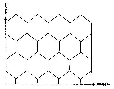 Sunflower Popcorn Bedspread Pattern Chart