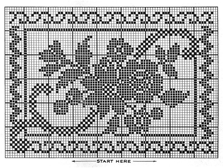 Pretty Soft Pillow Pattern #9373 chart