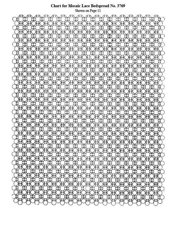 Mosaic Lace Bedspread Pattern chart b